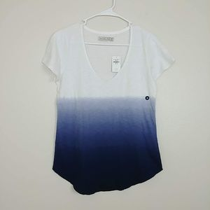 NWT Abercrombie & Fitch Ombré SS V-Neck Tee #3128